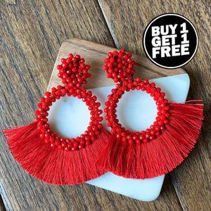 BOGO! Red Statement Earrings